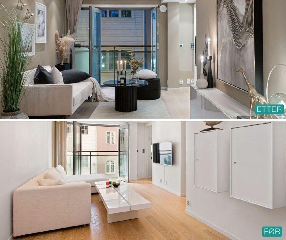 SJEKK DEN FORSKJELLEN! Slipte gulv og malte overflater er enkle grep som kan gi et helt nytt uttrykk – og samtidig ha mye å si for hvor attraktiv boligen er når den skal legges ut på boligmarkedet