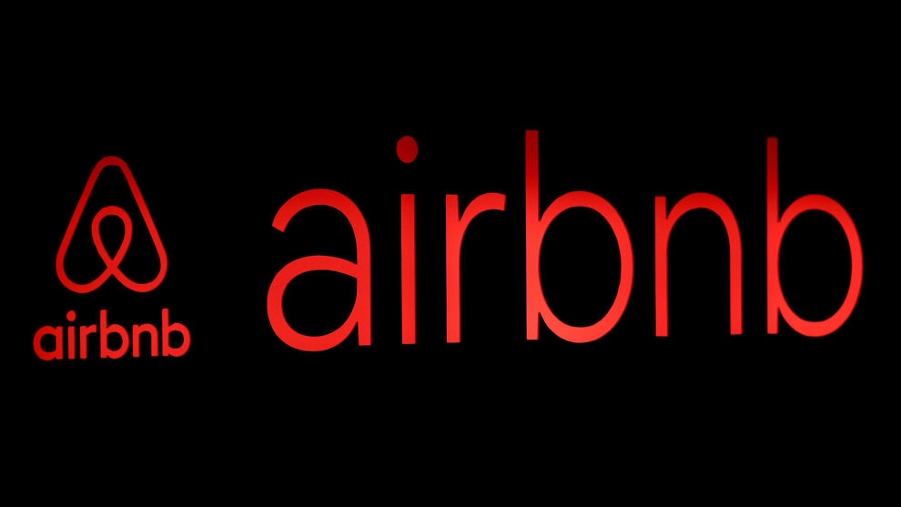 FILE PHOTO: The logos of Airbnb are displayed at an Airbnb event in Tokyo FILE PHOTO: The logos of Airbnb are displayed at an Airbnb event in Tokyo, Japan, June 14, 2018. REUTERS/Issei Kato/File Photo/File Photo