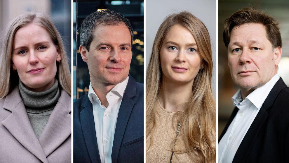 AKSJEPANELET: F.v.: Ane Rognved, Søren Milo Christensen, Audhild Asheim Aabø, Lars Erik Moen.