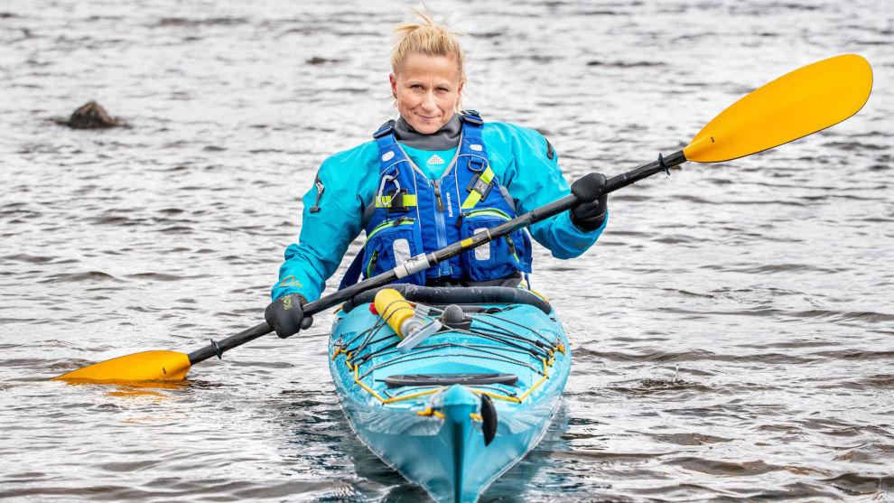 ERFAREN: Kristin Birgitte Kvarme Sand har padlet i drøye ti år, og det siste året har hun padlet minst én gang i måneden.