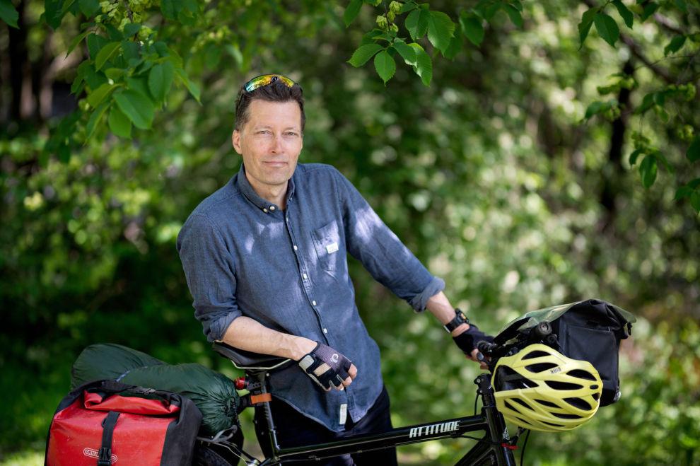EFAREN: Øyvind Wold har dratt på lange sykkelturer i Norge de siste 30 årene.