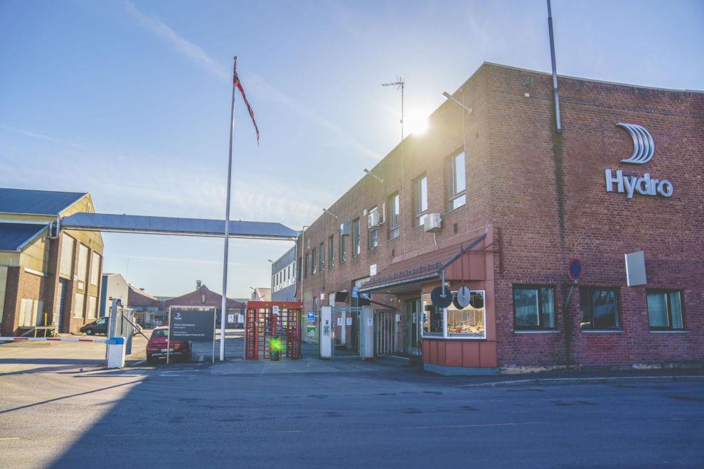 VALSEVERKSALG: Hydro solgte tidligere i år valseverk, blant annet verket i Holmestrand, for 14,2 milliarder kroner.