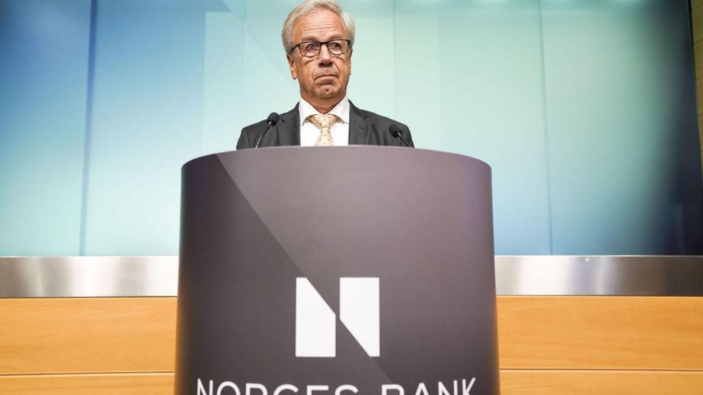 Sentralbanksjef Øystein Olsen har varslet ytterligere renteøkninger i månedene fremover. Her fra septembermøtet i Norges Bank.